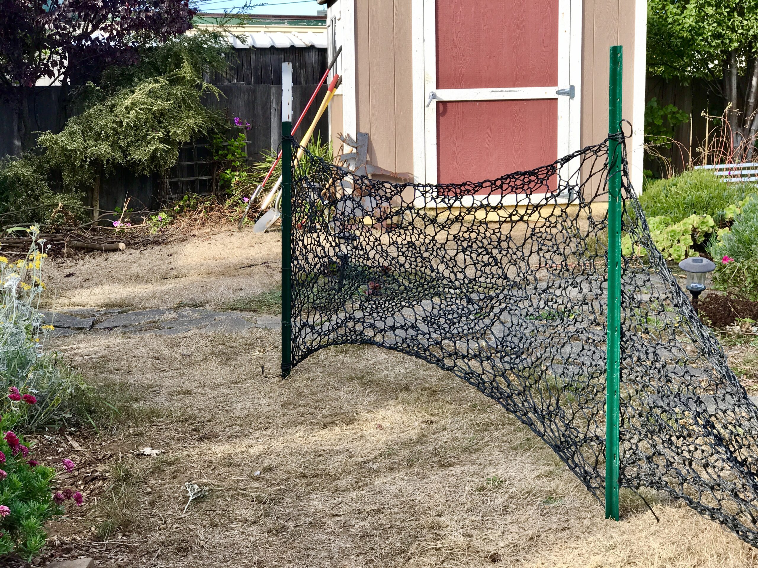 Knitted lace fence