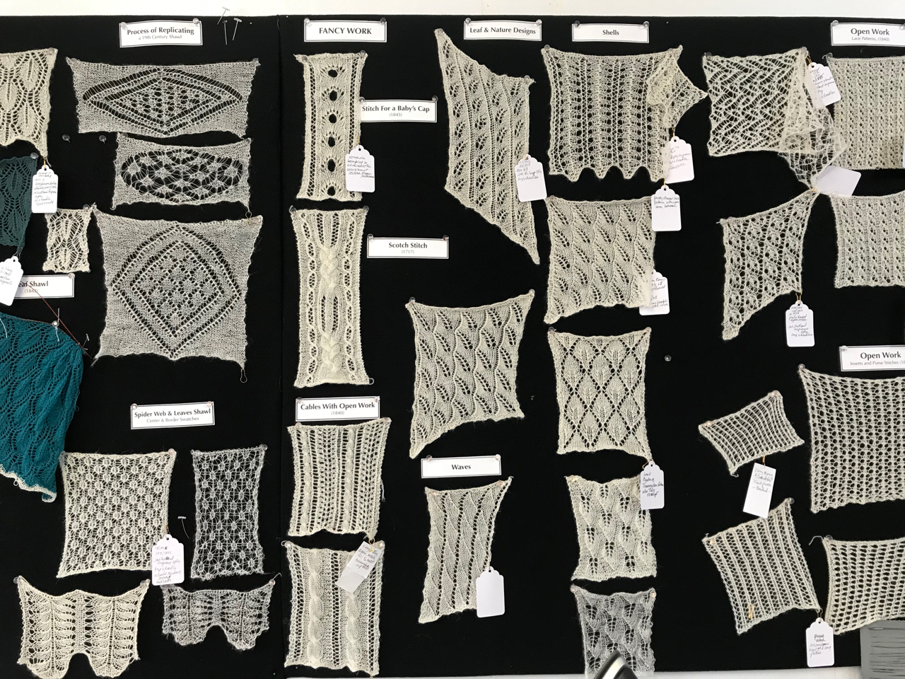 Lace Swatches, 1717 - 1842